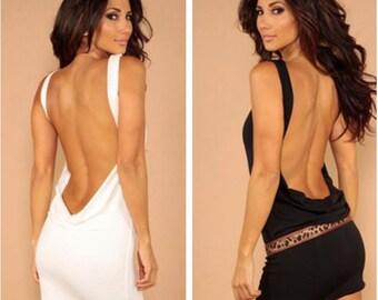 Sleeveless classic backless dress
