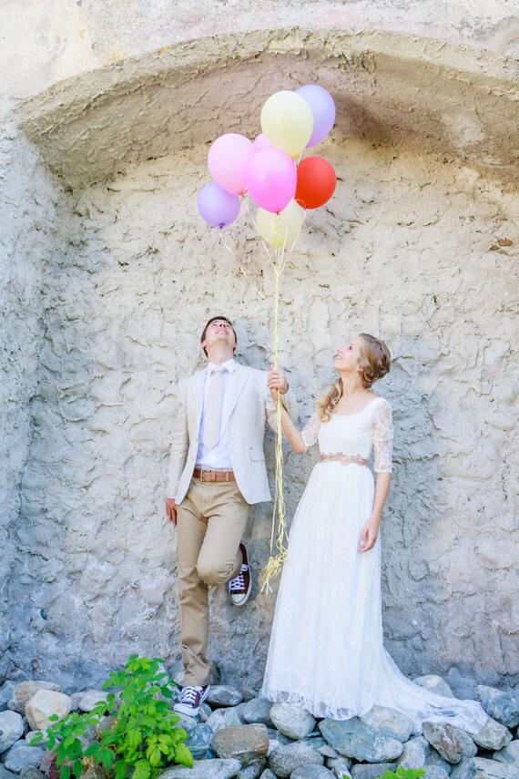 Ivory Lace Wedding Dress Open Back Wedding Dress Lace Bridal