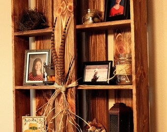 Rustic Hand Crafted Shelving Unit
