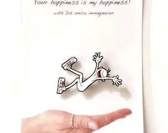 Pin DIDI polyshrink Handmade Happy Pin