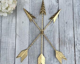 Arrow Wall Hanging/GOLD/Arrow Gallery Wall/Gold Home Décor/Arrow Nursery