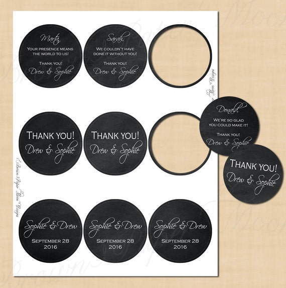Chalkboard round labels 2 5 text editable printable for 3 4 round label template