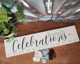Family Celebration Board- Painted - EASY HANG