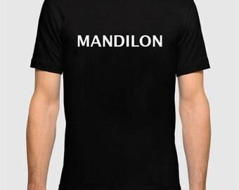 Chemise drôle de Mandilon T-shirt noir S-XL