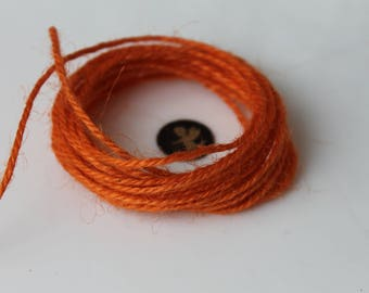 5 Metters string orange jute - cord - macrame - decoration - jewelry - sewing - sewing notions