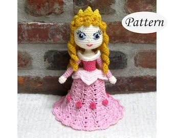 AURORA Sleeping Beauty - Amigurumi Pattern Crochet Doll Pattern Amigurumi Princess Pattern - PDF - Plush Doll
