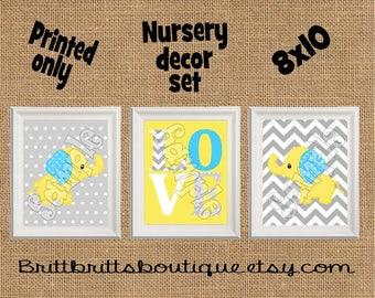 safari nursery wall art elephant nursery wall decor Baby boy nursery decorations Nursery Decor Kids Wall Art animal Nursery artwork prints