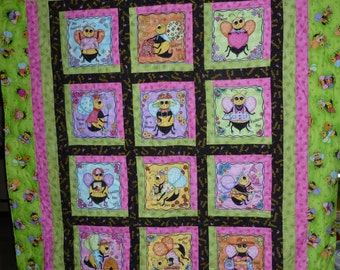Bee Quilt great for a child or even the Quilter in your life 45x54 inches