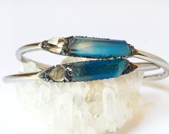 Herkimer Diamond Jewelry, April Birthstone, Birthstone Jewelry for April, Herkimer Diamond Bracelet, Raw Diamond Jewelry, Herkimer Diamond