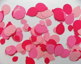 Pink Balloon Confetti Mix, Birthday Confetti, Balloon Punches, Baby Girl Shower Confetti