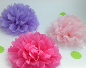 20 Tissue Paper Flowers, Baby Shower Decorations, Party and Event Decor, Baby Shower Flowers, Wedding Flowers,Birthday party PICK YOU COLORS