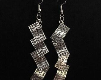 Money Tree Silver Earrings -- Rich Rich!!