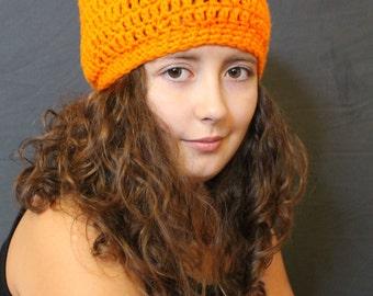 Pumpkin hat, Halloween hat, crochet hat, handmade hat, pumpkin, adult hat, child's hat, orange hat, girl's hat, boy's hat