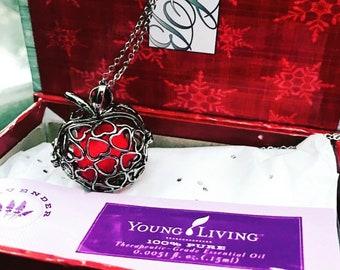 Apple locket necklace