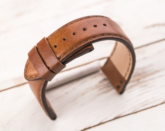 made edit strap brown watch in smaller patina next london flint products with jasper watches blue