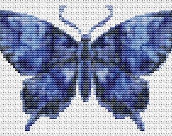 Butterfly Cross Stitch Chart, The Dark Night Butterfly Cross Stitch Pattern PDF, Butterfly Series, Embroidery Chart