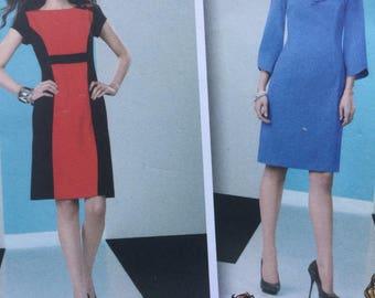 Runway Project Dress Pattern, Sizes 12 - 20, Uncut Sleeve & Neckline Variants