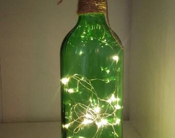 Bottle lamp Upcycled glass bottle