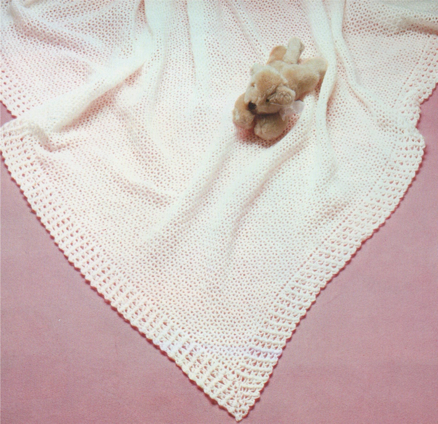 Baby Shawl PDF Crochet & Knitting Pattern : Crochet 2 Ply . Knitted ...