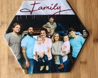 Personalized Photo Tile with script