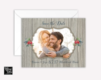 Rustic Winter Save the Date Custom Print