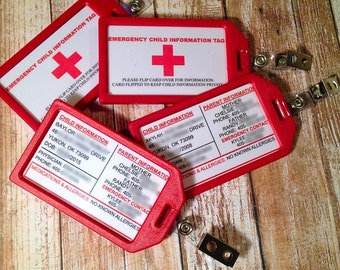Emergency Child Information Tag