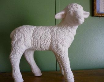 Ceramic Spring Lamb Standing