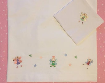 Embroidered Sheet for single bed