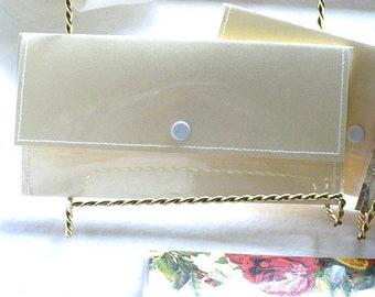 Devant le portefeuille de poche, portefeuille personnalisé, portefeuille femme, portefeuille pour homme, le portefeuille, portefeuille en argent, 7 pouces, fermeture pression, en plastique résistant à l'eau