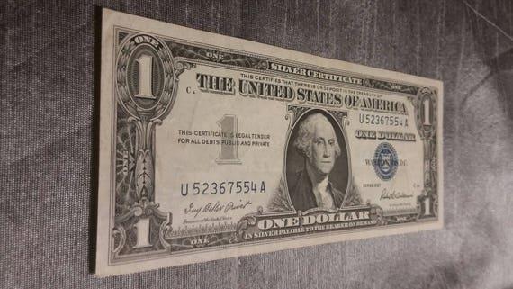1957 United States 1 Dollar Bill Silver Certificate