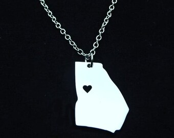 Georgia State Pendant Necklace