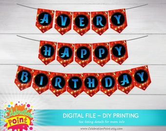Miraculous Ladybug Banner with name, Ladybug Birthday Banner, Ladybug Party, Ladybug Garland - ONLY FILE