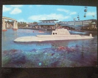 Disneyland Submarine Ride Vintage Postcard E-9