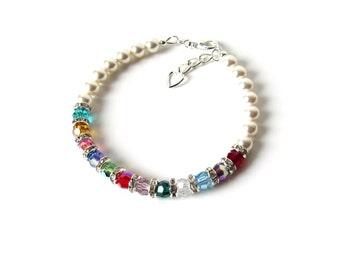 Birthstone Bracelet for Mom, Mothers Day Personalized, Mothers Day Bracelet, Mothers Bracelet Birthstone, Mothers Day Jewelry Gift for Her