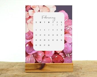 2018 Desk Calendar - Floral Desktop Calendar - Mothers Day Gift - Mini Desk Calendar - Floral Office Decor - Gift For Her