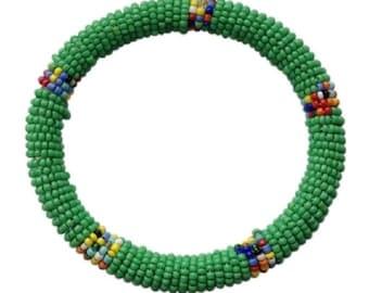 Fair Trade African Seed Bead Bangle Bracelet