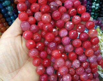 14mm Round Bright Red Agate ball beads -28pcs/strand