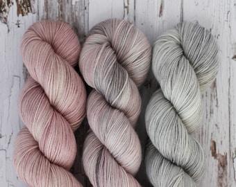 Juniper Shawl Set - Hand Dyed Yarn - Sock Yarn - Fingering Yarn - Superwash Merino / Nylon - 100 gms