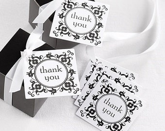 Ornate Frame Wedding Favor Thank You Tags (Pack of 25)