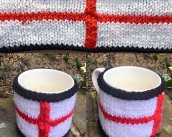 Hand-made Mug Cosy/Mug Warmer - Six Nations Editions - England