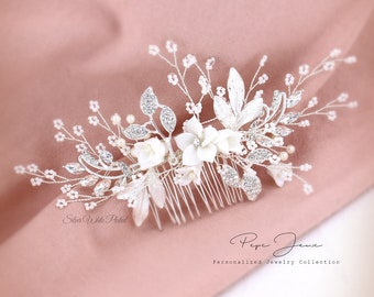 Bridal Hair Comb Crystal Leaves Wedding Hair Accessories Bridal Hair Accessory Crystal Bridal Comb Silver Comb Bridal Bling Bridal Hair pin