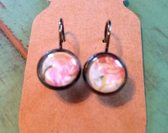 10mm Floral Dangle Earrings