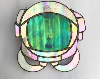 Stained Glass Astronaut Helmet