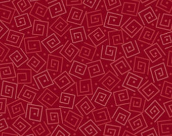 Harmony Blender Fabric - Squares by Quilting Treasures 24779 RT Brick Red - Priced by the 1/2 yard