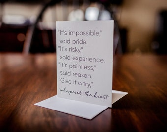 Heart Whispers Greeting Card, Encouragement, Inspiration, Motivation