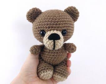 PATTERN: Benji the Bear - Crochet bear pattern - amigurumi bear - crocheted bear - crochet teddy bear - PDF crochet pattern