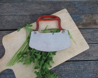 Mezzaluna, Vintage Herb Chopper, Dough Cutter, Rustic Kitchen, Food Blogger, Photo Prop