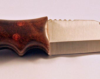 Tanto style blade with mesquite handle