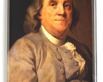 Ben Franklin Portrait Fridge Magnet