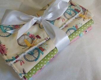 Summer Prints, 3 Burp Cloths, Baby Shower Gift